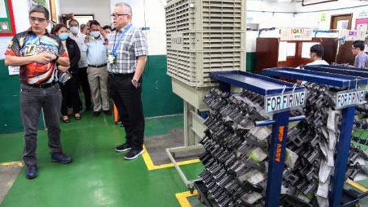 DTI Chief Encourages Local Firearms and Ammunition Maker Armscor to Increase Capacity to Supply Growing Requirement of the Military, Police
