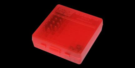 MTM – Ammo Box 100 Round Flip-top 40 10mm - Red (P-100-45-29